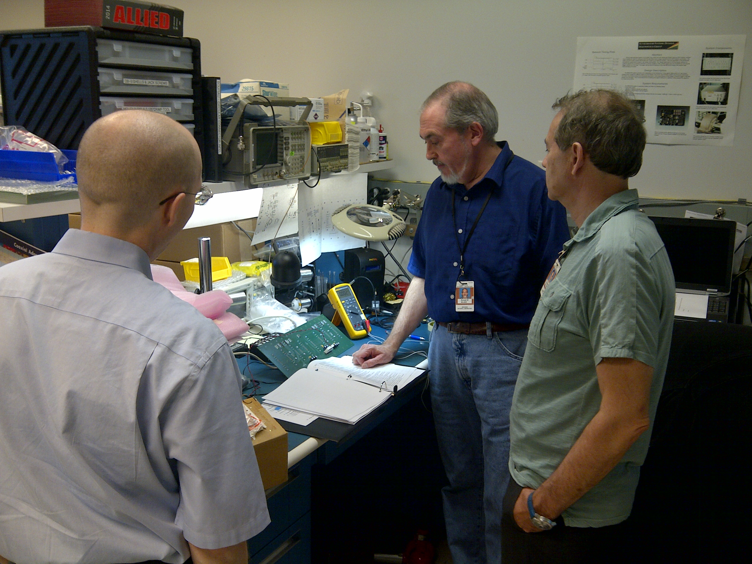 Diagnostics Group's setup in the lab for the Monopulse Beam Position Monitor (MpBPM) system