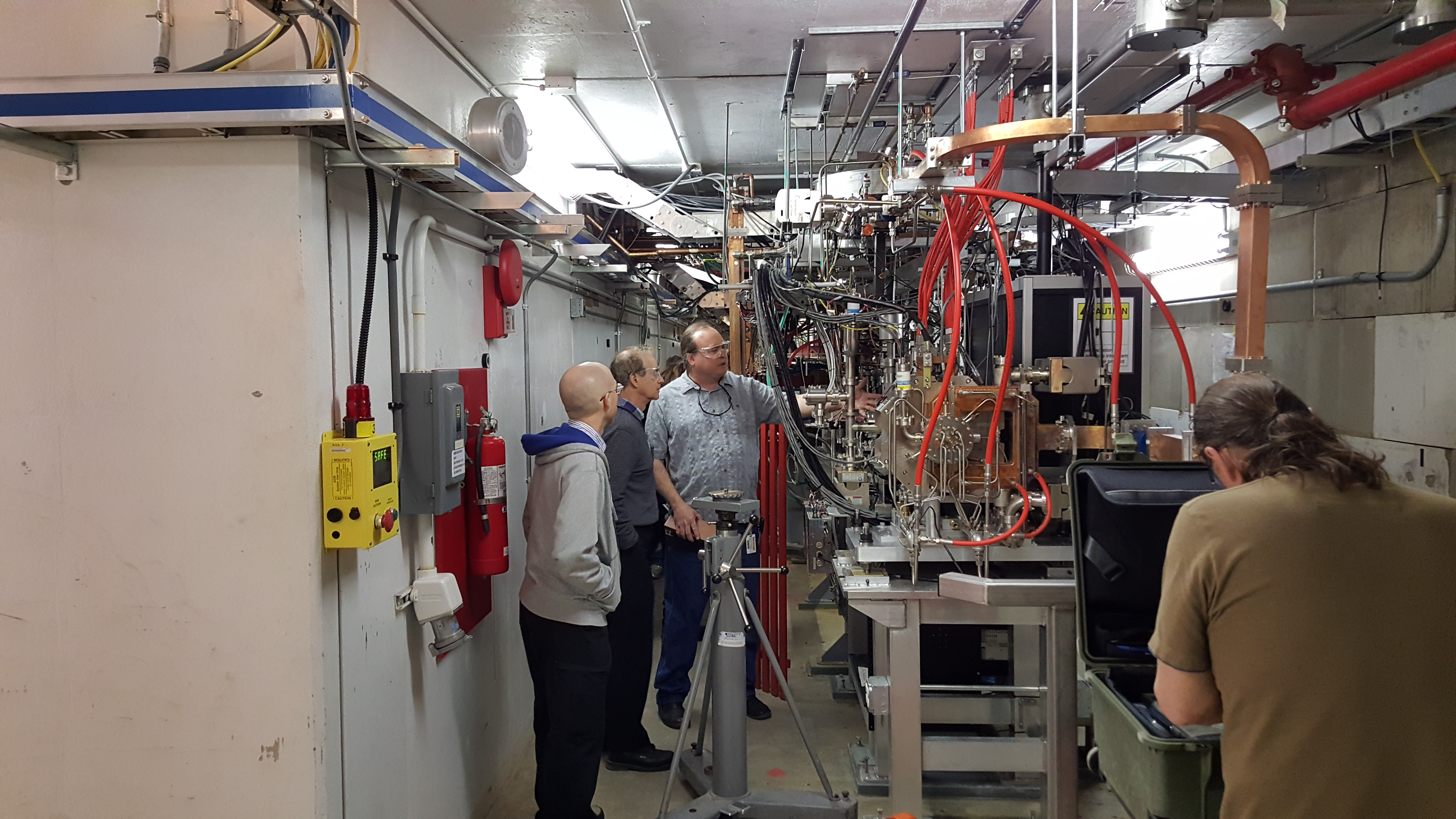 Observing PC gun and LINAC component alignment