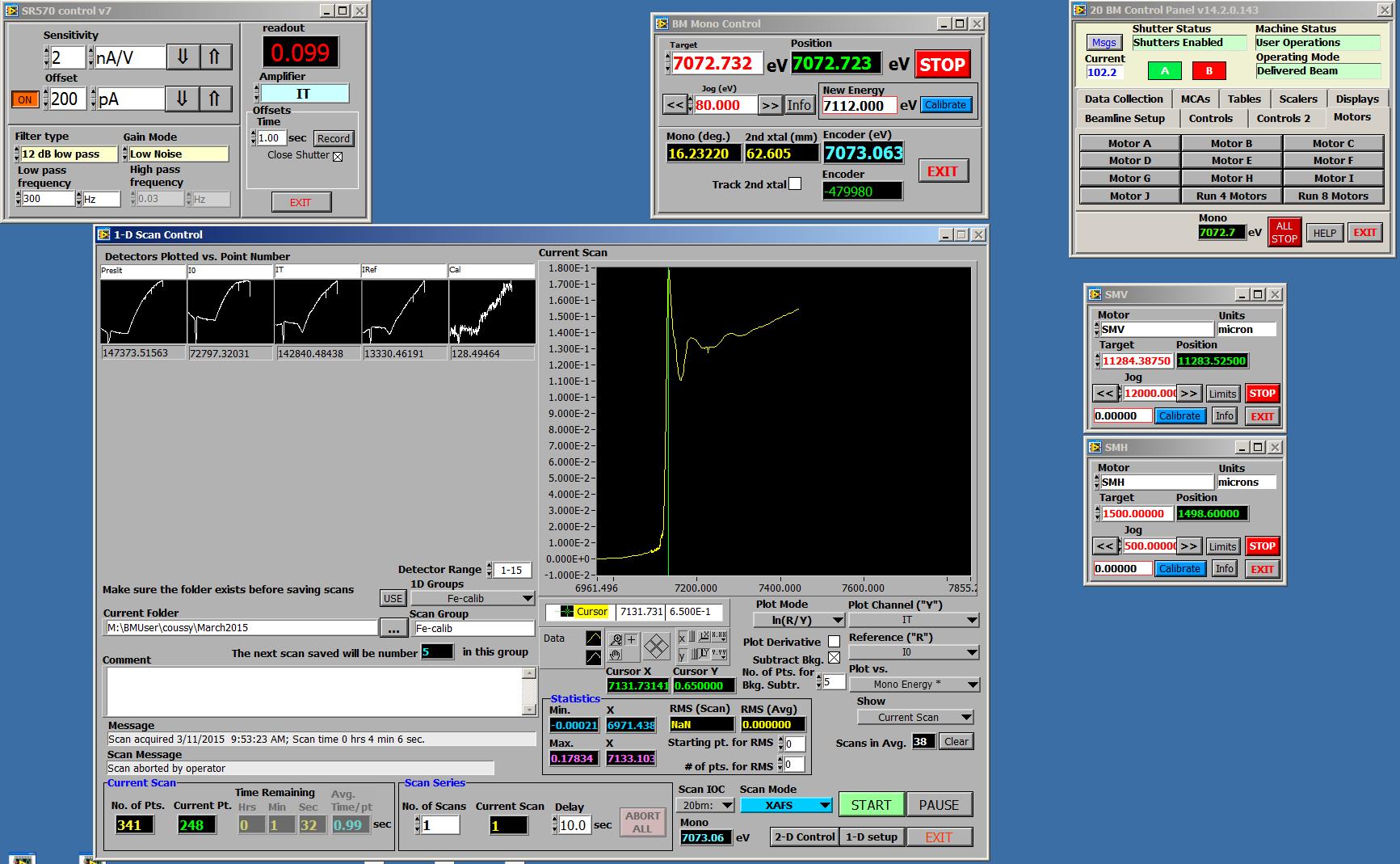 SPC control panel screen shot