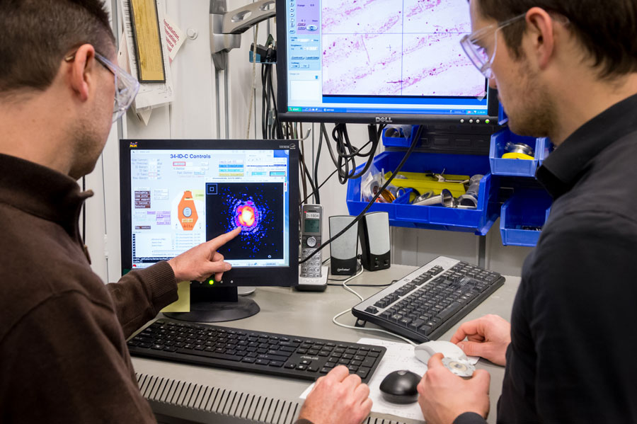 Argonne researchers are the first to capture the formation of nanomaterial defects in near-real time. Their work will help other researchers model the behavior of materials, a step that is key to engineering stronger, more reliable materials. (Image by Ma