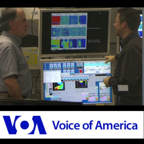 Volker Rose and Ed Vicenzi give TV interview to Voice of America about corrosion in dauguerreotypes Argonne National Laboratory Smithonian collaboration