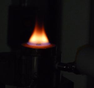 McKenna burner in the x-ray beamline