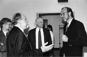 May 11, 1995, representatives from PNC-CAT including PNC-CAT Director Edward Stern, met with David Moncton, Associate Laboratory Director for the APS, to formally sign a Memorandum of Understanding, becoming the 11th APS CAT to do so. From left in the pho
