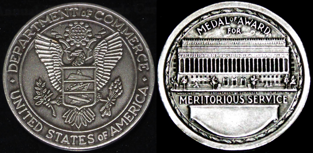 The U.S. Department of Commerce silver medal.