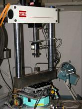 MTS servo-hydraulic fatigue load frame at APS 1-ID beamline