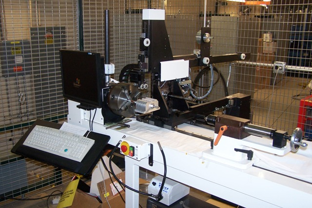 The programmable coil winding machine from Machine Control Specialists that is used to wind the superconducting undulator cores.