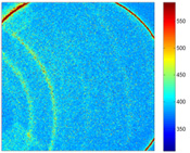 Caption: Diffraction pattern from a NiTi sample in austenite phase, generated with six x-ray pulses