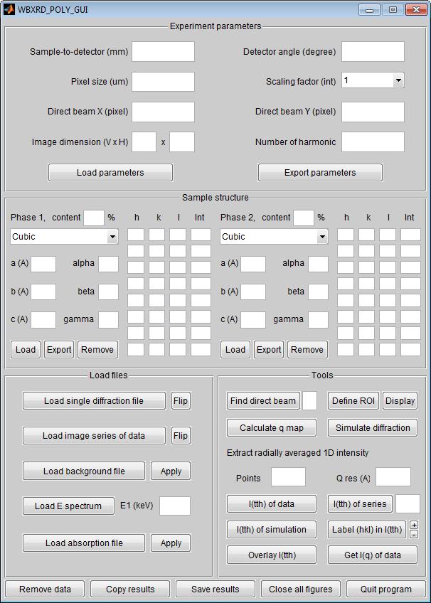 HiSPoD: Undulator White-beam Diffraction Analysis Software